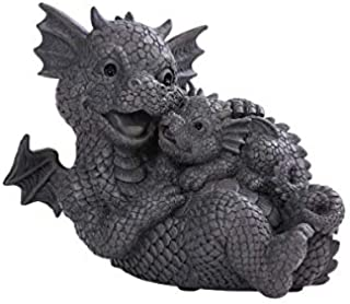Pacific Giftware PT Garden Dragon Family Mother and Baby Dragon Garden Display Decorative Accent Sculpture Stone Finish 10...