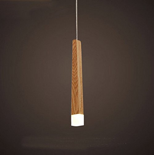 Lampada Sospensione LED Legno Massello Testa Singola Lampada Sospensione Minimalismo Testa Singola G4 Lampada Sospensione Individualità Paralume (Lampadina Non Inclusa)