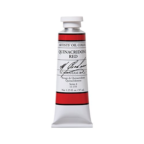 M. Graham Artist Oil Paint Quinacridone Red 1.25oz/37ml Tube