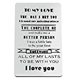 Engraved Wallet Insert Card Valentine's Day Jewelry Anniversary Card...