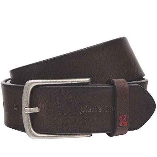 Pierre Cardin Mens leather belt/Mens belt, full grain leather, dark brown, Größe/Size:85, Farbe/Color:marrone
