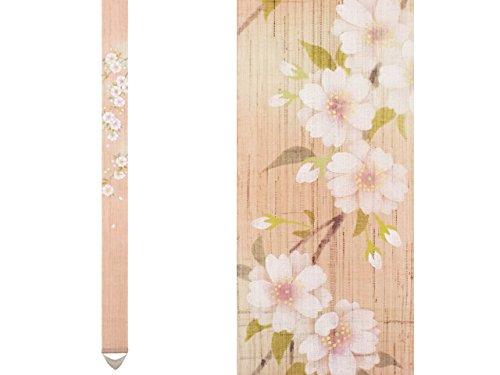 細タペストリー 八重桜 手描き タぺストリー 掛け軸 春