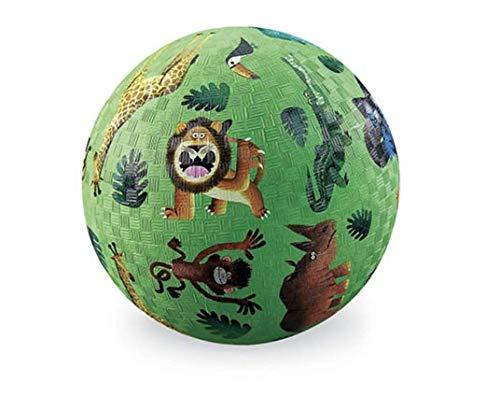 Crocodile Creek 3821559 Naturkautschuk Ball Wilde Tiere 18 cm