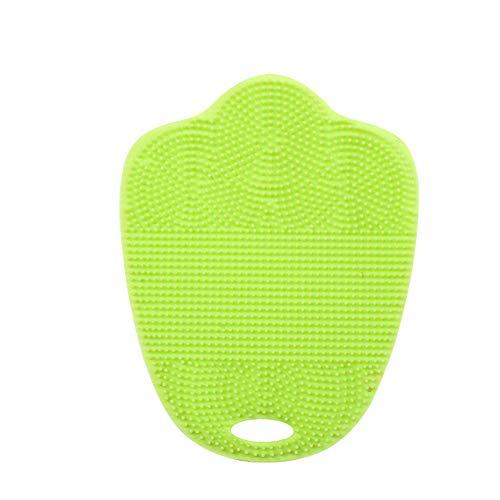 FiedFikt Antibacteriële Siliconen Reinigingsborstel Pad Schotel Fruit Scrubber Clean Tool Groen
