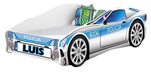 Kinderbett Autobett Auto Junior mit Lattenrost und Matratze 140x70 160x80 180x80 ACMA (160x80, 9 + Name)