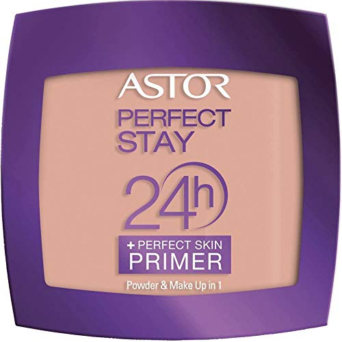 Astor Perfect Stay 24h Powder Plus Perfect Skin Primer, 302 Deep beige, 1er Pack (1 x 7 g)