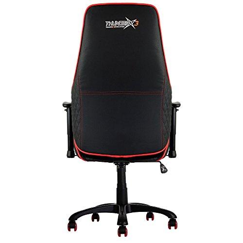 Thunder X3 TGC20BR Sedia Gaming Professionale Colorazione Black Red, nero, metallo