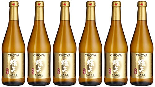 Choya Sake japanischer Reiswein (Alkoholhaltiges Getränk, Junmai Sake, aromatisch, 14,5% vol.) 6er Pack (6 x 0,5l)