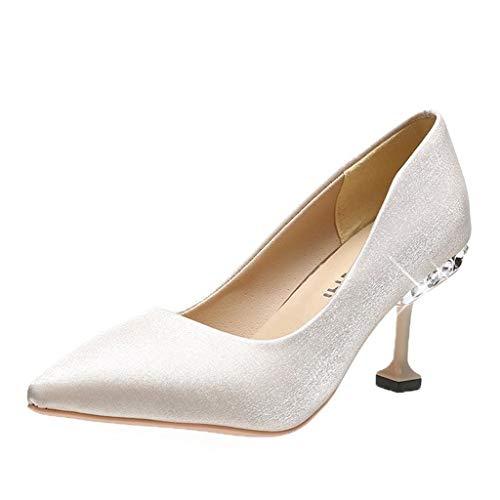 UMore Damen Klassische Pumps, Frauen Pumps High Heel Schuhe für Frauen Spitz Party Abendkleid Pumps Prom