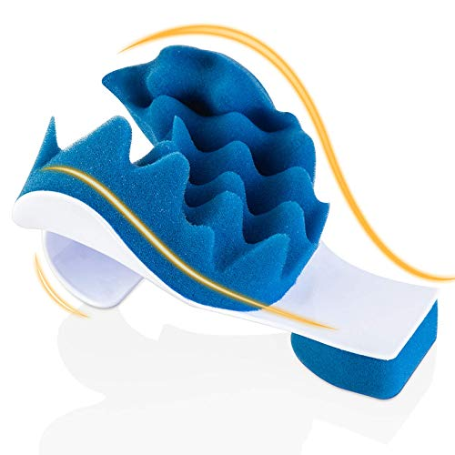 Chiropractic Pillow - Neck and Shoulder Relaxer Cervical Pillow Neck Traction Device for Pain Relief Management and Cervical Spine Alignment