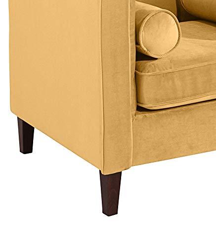Max Winzer Sessel Jeronimo in gelben weichen Samtvelours | 100 x 85 x 80 cm