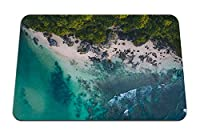 22cmx18cm マウスパッド (オーシャンビーチ熱帯砂岩) パターンカスタムの マウスパッド