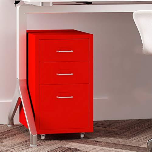 3 gesloten ladekasten, rode lades set systeembox vak voor gegevens 280 × 410 × 485 mm 1.7mm thickness