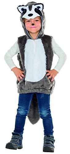 Rubie's Waschbär Kinder Kostüm Größe 128 Unisex Karneval Fasching Racoon Tierkostüm