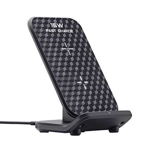 LUXSWAY Wireless Charging Station| Inductive Phone Charger| Charger Dock 15W Max| Wireless Charging Stand Compatible with iPhone 11 11 Pro 11 Pro Max XS XR XS Max 8 Plus Galaxy Note 10 Plus S10 Note9