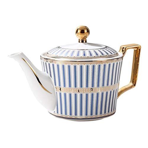 Lucky Star Coffee Pot Tetera de cerámica Caldera del hogar de Alta Capacidad Porcelana Pot, Grande de Porcelana con la Tetera