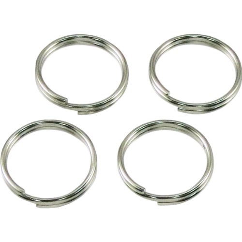 Himejiya Stainless Steel Double Rings, 4 Pieces (Inner Diameter 0.6 inches (14 mm) #14