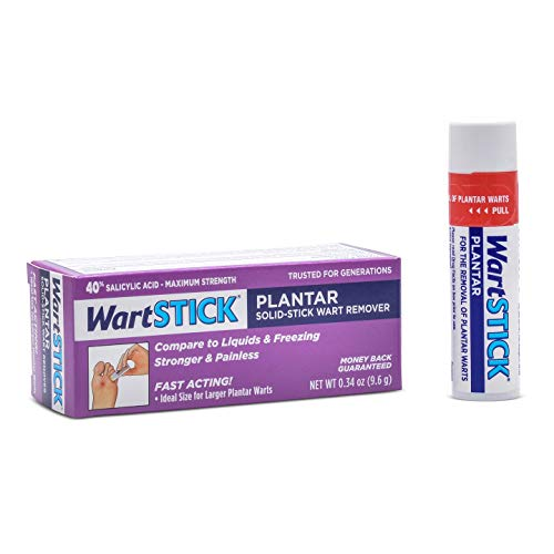 WartStick Plantar Maximum Strength Salicylic Acid Solid-Stick Plantar Wart Remover, 0.34 Oz