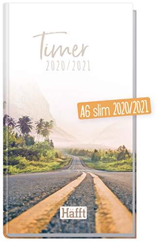 Häfft-Timer A6 Slim 2020/2021 [Vanlife] Schüler-Kalender im Hosentaschenformat, Schüler-Planer, Schulplaner, Semesterplaner für Oberstufe, Ausbildung oder Studium