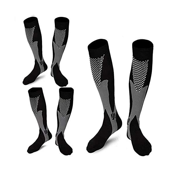 3 Pair Medical Althetic Compression Socks Men,20-30 mmHg Nursing Performance Socks for Edema Diabetic Varicose Veins Running