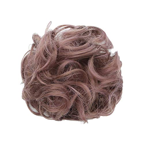 HLUKY Chignon De Cheveux Queue Cheval Postiche Épaississement Chouchou Updos Fibre Synthétique Cheveux Humains Perruques Extensions En Cravates Perruq