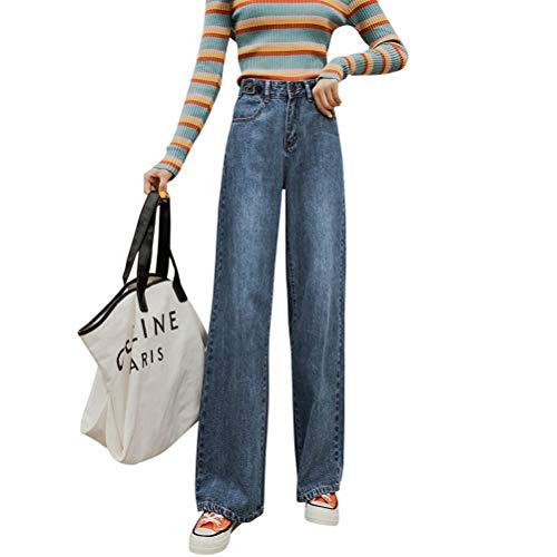 JABAVE Pantalones Anchos de Cintura Alta Pantalones de Mezclilla Mujeres Pantalones Rectos...