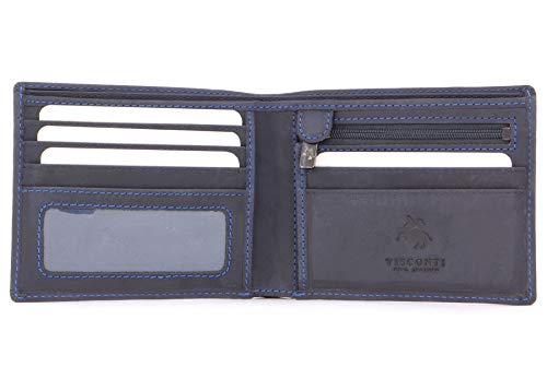 Visconti - SHIELD 707 - Cartera - Cuero Hunter (Azul - RFID)