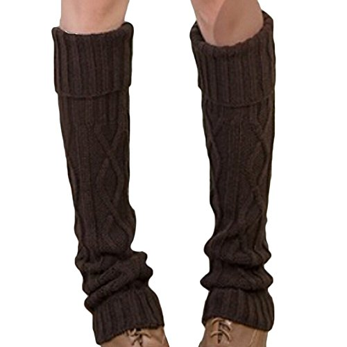 Butterme Mode Winter warme Gehäkelt Stricken Stulpen LegWarmer Kniehohe Stiefel Socken Stulpen Strümpfe für Frauen Mädchen