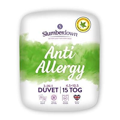 Slumberdown Anti Allergy 3-in-1 Combination Duvet, Single, 15 Tog (4.5+10.5) All Seasons by Slumberdown