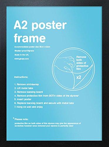 GB Eye LTD, Noir - A2, 42 x 59.4cm - Eton, Cadre