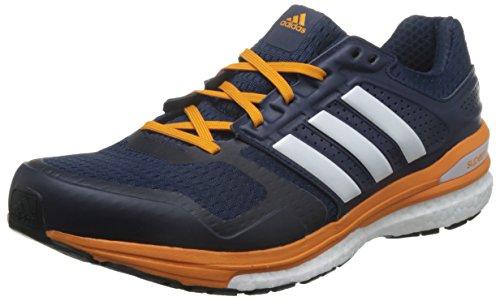 adidas Herren Supernova Sequence Boost 8 Laufschuhe, Mehrfarbig (Collegiate Navy Blau/Weiß/Eqt Orange), 41 1/3 EU