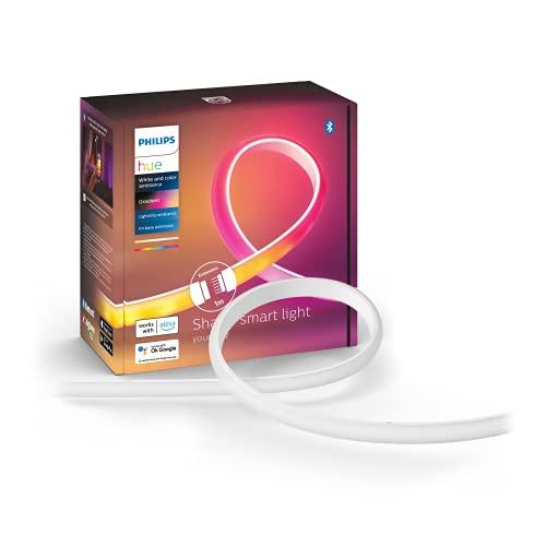 Philips Hue Lámpara, Hue Lightstrip, Tira LED Inteligente, Luz Blanca y de Colores, Compatible con Alexa y Google Home