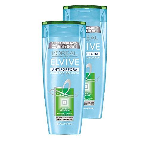 L 'Oréal Paris Elvive Anti-SCHUPPEN-SHAMPOO gevoelige voor vettig haar, 3 verpakkingen van 2 x 300 ml, totaal: 1800 ml