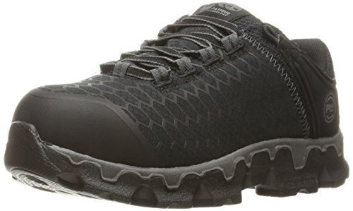 Timberland PRO Women's Powertrain Sport Alloy Toe SD+ Industrial & Construction Shoe, Black Synthetic, 9