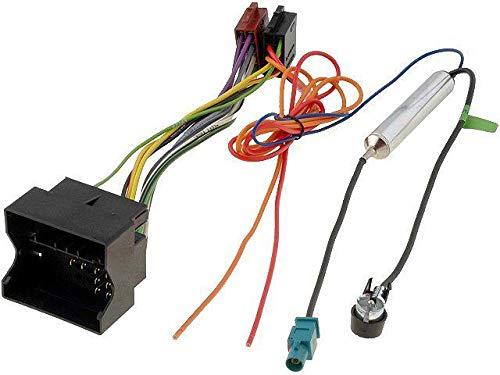 Kit Fiche ISO autoradio compatible avec Opel ap05 -Adaptateur antenne