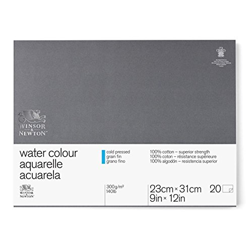 Winsor & Newton Professional Watercolor Paper Block, Cold Pressed 140lb, 9'x12', White