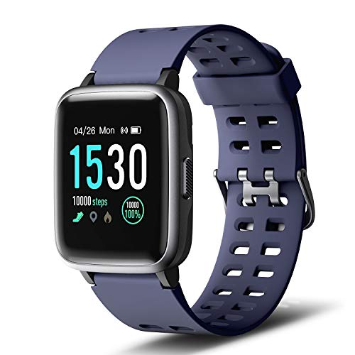 Letsfit Smartwatch, Fitness Armbanduhr Touchscreen Fitness Uhr IP68 Wasserdicht Fitness Tracker mit Pulsmesser Schlafmonitor, Sportuhr Fitnessuhr für Damen Herren für Android iOS