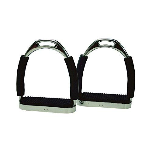 Protack Flexi Stirrups With Treads (135mm) (Nero)