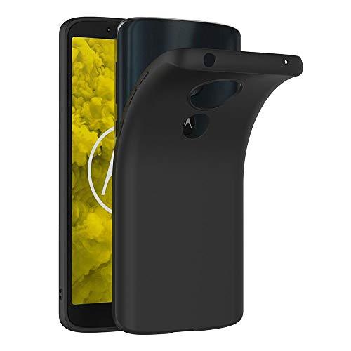 AICEK Moto G6 Play Hülle, Schwarz Silikon Schutzhülle für Motorola Moto G6 Play Case TPU Bumper Moto G6 Play Handyhülle (5,7 Zoll)