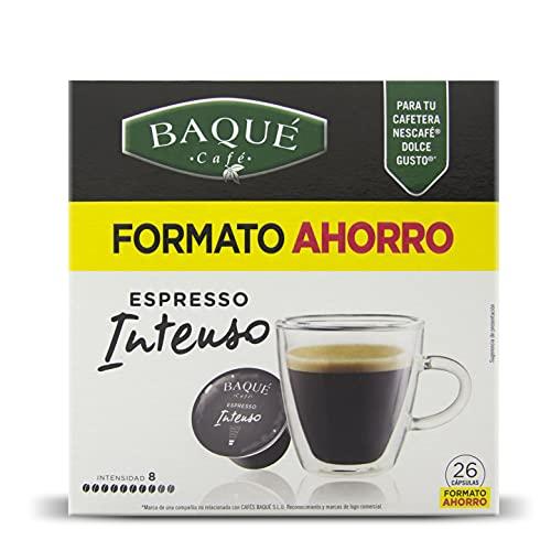 Cafés Baqué - Intenso Formato Ahorro Cápsulas Compatibles Con Dolce Gusto (pack De 4*26 = 104 Cápsulas)