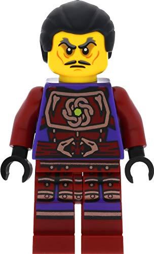 LEGO Ninjago - Minifigura de nube negra (pelo con trenza) con espadas (competición de los elementos)