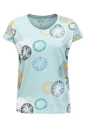ESPRIT 030ee1k338 T-Shirt, 390 / Verde Aqua Chiaro, S Donna