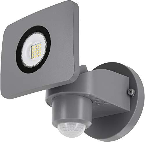 Foco de pared LED 20 W IP54 con detector de movimiento + sensor crepuscular – giratorio – blanco diurno (4000 K)
