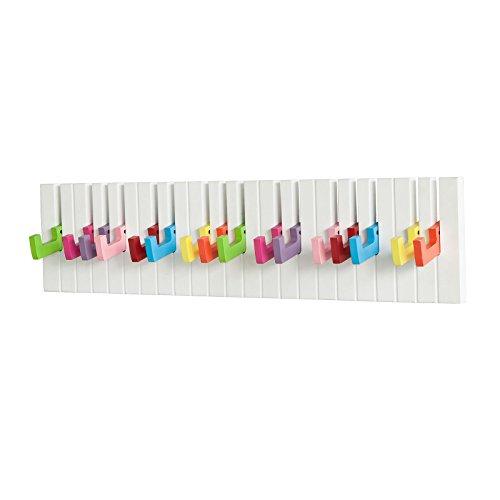SoBuy   FRG13 Perchero de pared con diseño de piano