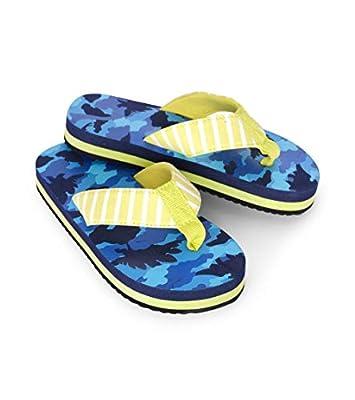 Hatley Boys' Flip Flops, Dino Camo, X-Large (13 US Child Shoe Size)