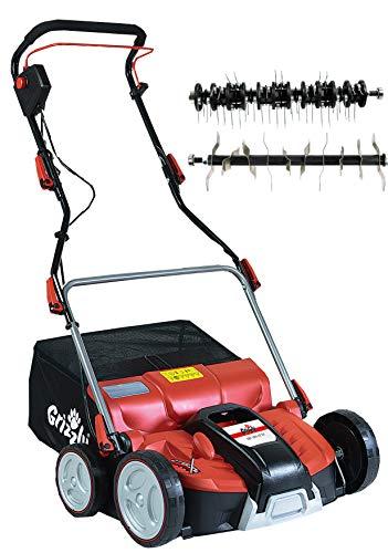 Grizzly ERV 1801-37 ZV Scarificateur électrique 1800 W 37 cm de largeur de travail