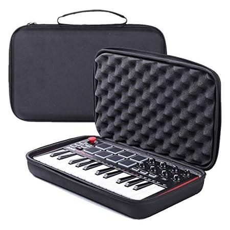 Honbobo Bolsa Estuche Fundas duras para Akai Professional MPK Mini MKII &MPK Mini Play 25-Key Portátil USB Midi Teclado