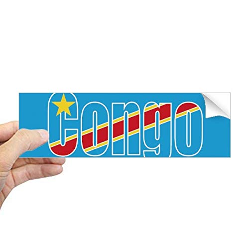 DIYthinker Congo Land Vlag Naam Rechthoek Bumper Sticker Notebook Venster Sticker