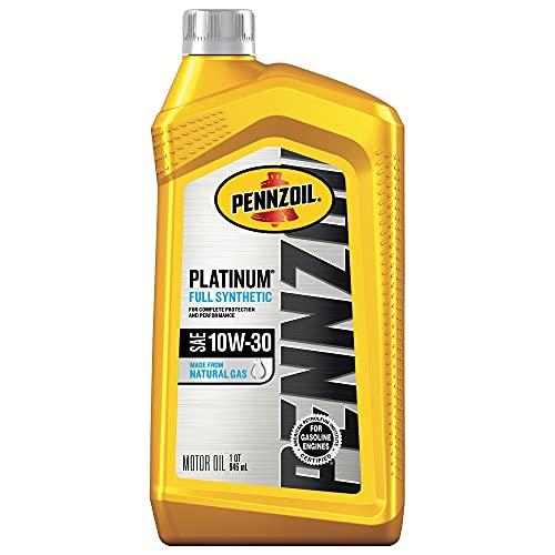 Pennzoil Platinum Full Synthetic Motor Oil 10W-30, 1 Quart - Pack of 1