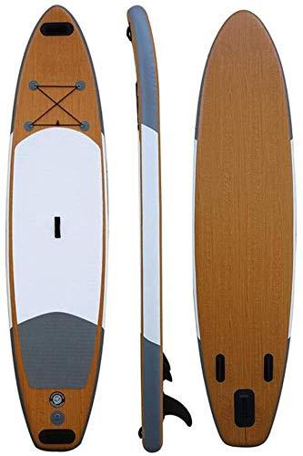 FANLIU Soporte Inflable Tarjeta de Paleta, portátil Tabla de Surf Sup Junta Antideslizante de la Cubierta extraíble Fin noveles y Profesionales, (Color : A, Size : 336X78X15CM)